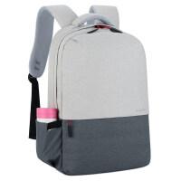 15.6寸电脑包女双肩男士手提联想神州惠普苹果14寸笔记本双肩背包 +水杯袋+充电接口