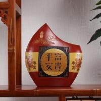 汝陶结婚礼物婚庆礼品家居室内春节装饰品创意中式摆件彩陶工艺品