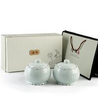 茶叶包装礼盒空礼品通用半斤绿茶红茶叶罐陶瓷中号密封罐双罐