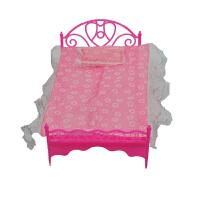芭比娃娃的小床 娃娃床公主床双人床娃娃的家具套装玩具配件大全 其他尺寸