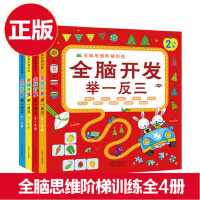 正版 全脑开发举一反三全套4册 2-3-4-5-6岁儿童全脑思维阶梯训练 儿童智力开发的书籍 提升孩子的观察力注意力分