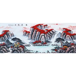 王晨辰《鸿运当头》2.4米巨幅 著名画家 有作者本人授权 带收藏证书