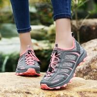 夏季登山鞋防滑网面户外鞋耐磨徒步旅游鞋男女鞋越野跑鞋