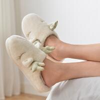 棉拖鞋冬季居家室内保暖毛绒卡通可爱家用情侣冬天家居拖鞋女
