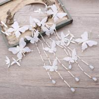 韩式新娘甜美花朵发带皇冠婚纱配饰羽毛头纱森系新婚结婚头饰