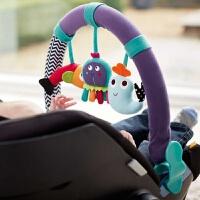 婴儿推车夹车挂毛绒挂件座椅夹子床铃车挂玩具安抚摇铃lll