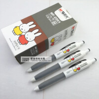 晨光米菲按动中性笔随身便携式短杆签字笔0.5黑色小号水笔