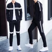 男士运动外套套装秋季2017新款韩版潮流时尚春秋休闲卫衣服两件套