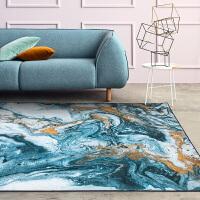 现代创意客厅地毯 家用沙发茶几地垫 大理石纹卧室床边毯
