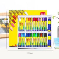 油画棒36色48色宝宝蜡笔儿童安全幼儿画笔彩笔腊笔套装色粉笔24色幼儿园油画笔彩绘棒可水洗 24色72052【赠 原装
