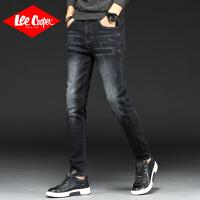 Lee Cooper韩版潮流修身显瘦磨白男士长裤小脚裤子男式牛仔裤