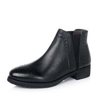BATA/拔佳小牛皮女及踝靴AJ458CD6