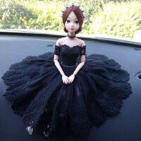 可爱汽车摆件车载芭比娃娃婚纱车饰车内饰品婚礼创意摆饰家居装饰