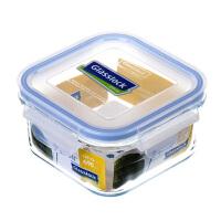 Glasslock 三光云彩韩国进口钢化玻璃饭盒微波炉保鲜盒收纳盒玻璃便当盒490ML RP523