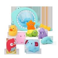 宝宝洗澡玩具套装儿童捏捏叫婴儿戏水鸭子