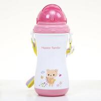 儿童水杯吸管杯可爱卡通饮水壶夏季宝宝吸水壶摔小学生喝水杯子O