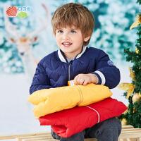 贝贝怡男童洋气羽绒服冬装新款宝宝防风加厚保暖棒球服外套194S2237