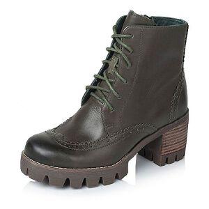 Teenmix/天美意专柜同款打蜡牛皮革女皮靴6E840DD5