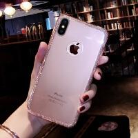 iphonex手机壳全包防摔女款透明闪粉简约10苹果8X硅胶套软壳
