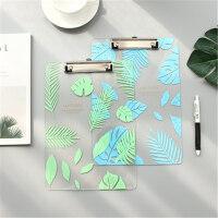 创意多功能书板夹A5文件夹写字垫板简约透明亚克力板夹 学生用 纸质板夹 单个售价