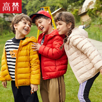 【限时2件3折到手价:119元】高梵童装2019新款男童正品轻便儿童羽绒服女童轻薄