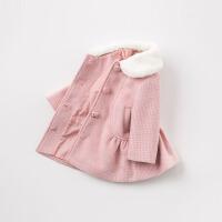 [2件3折价:158.1]戴维贝拉秋季女童新款外套 宝宝格子大衣DB8503