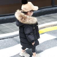 女童宝宝棉衣中长款洋气冬装小女孩外套2018新款羽绒儿童棉袄