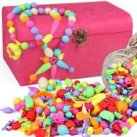 儿童串珠玩具diy手工穿珠子一周岁宝宝智力积木0-1-2-3周岁女孩