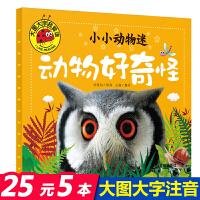 动物好奇怪 小小动物迷 大图大字我爱读 注音版0-3-6岁幼儿童动物王国大探秘科普读物 亲子启蒙认知早教绘本故事图书