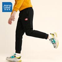 真维斯休闲工装裤男2019年冬季新款时尚舒适休息显瘦束脚休闲长裤