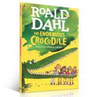 英文原版绘本小说书 睡前故事 罗尔德・达尔 (Roald Dahl) The Enormous Crocodile 大