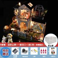 diy小屋大型手工制作房子拼装模型别墅创意礼物女孩玩具艺术