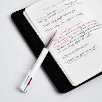 KACO优写4色中性笔4in1多功能四色水笔简约多色中性笔合一0.5mm黑蓝红绿4色合1水笔学生考试按动签字水笔