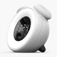 闹钟创意时光感应蘑菇灯智能LED光控小夜灯智能闹钟学生床头