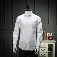 国内剪标撤柜白衬衫男长袖春商务正装百搭直筒职业装工装衬衣
