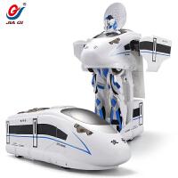 遥控动车玩具电动小火车高铁火车玩具轨道火车和谐号火车玩具