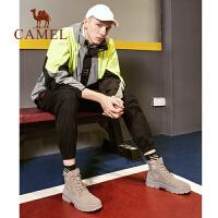 骆驼马丁靴男高帮英伦风工装鞋2019秋季新款韩版复古潮流休闲靴子
