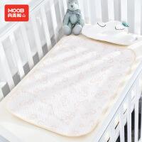 月亮船宝宝隔尿垫有机棉防水透气新生儿春夏隔尿垫月经垫可洗隔尿