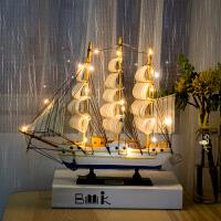 创意一帆风顺帆船摆件装饰品家居房间小摆设酒柜客厅柜工艺船模型