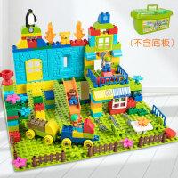 男孩子10女孩�犯� 积木玩具拼装大颗粒儿童3-6周岁宝宝