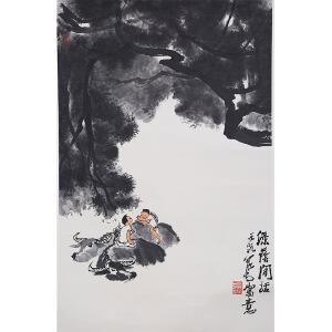 C147 李可染款(附出版) 绿荫闲话