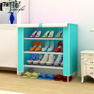 门扉 简易鞋架 简易鞋架多层卡通塑料收纳防尘家用省空间经济型可爱儿童鞋柜