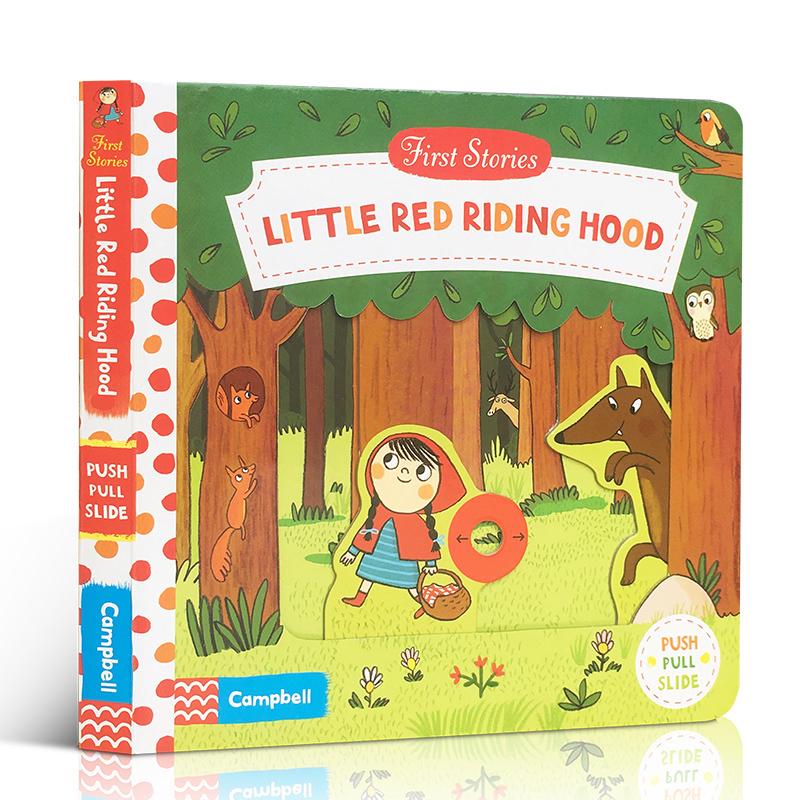 英文原版 First Stories BUSY系列 Little Red Hood 小红帽 纸板书撕不烂 童话故事篇 操作活动书