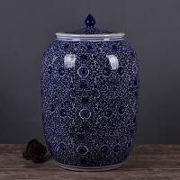 景德镇陶瓷螺纹米缸20斤50斤100斤油缸水缸储米腌菜肉缸