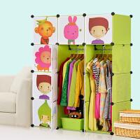 蜗家 组合式简易衣柜组装树脂衣橱塑料收纳拆装单人柜