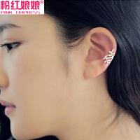 韩版可爱树叶耳骨夹耳扣耳挂无耳洞耳夹耳钉女气质假耳环耳饰饰品