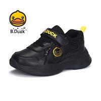 【4折价:99.6】B.Duck小黄鸭童鞋儿童运动鞋 新款皮面鞋透气学生潮B3083934