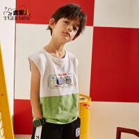 男童背心纯棉2020夏季新款洋气儿童无袖t恤薄款中大童韩版童装潮