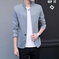 2017春装新款韩版时尚休闲立领男士修身西装礼服外套潮男小西服男