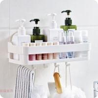浴室强力吸盘置物架厨房壁挂式储物架塑料免钉壁挂沐浴用品收纳架